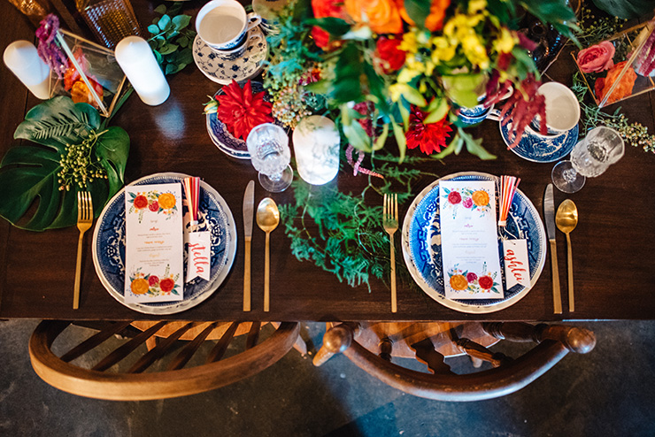 Eclectic-Fiesta-Engagement-Party-Inspiration-Place-Setting