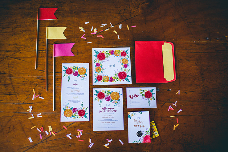 Eclectic-Fiesta-Engagement-Party-Inspiration-Stationery